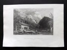 Bartlett America C1840 Print. Notch House, White Mountains, New Hampshire